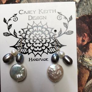 Casey Keith Design Jewelry - Single Coin Pearl Earring